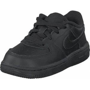Nike Boys' Air Force 1 '06 (td) Black/black, Sko, Sneakers og Træningssko, Sneakers, Sort, Grå, Børn, 19