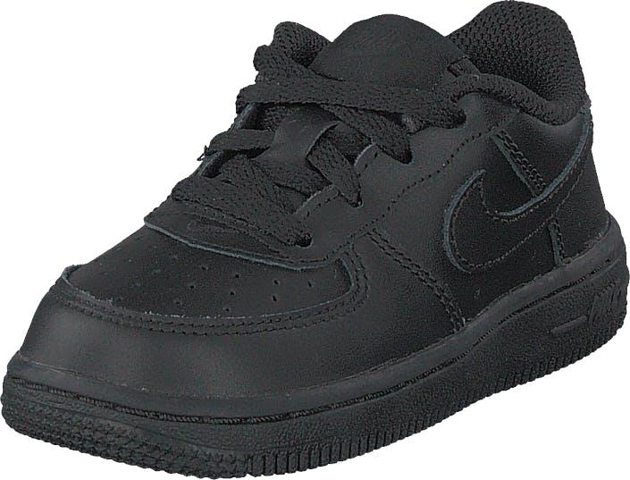 Nike Boys' Air Force 1 '06 (td) Black/black, Sko, Sneakers og Træningssko, Sneakers, Sort, Grå, Børn, 18