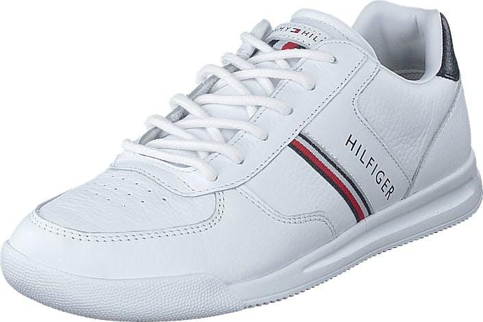 Tommy Hilfiger Lightweight Leather Mix Sneake White, Sko, Sneakers og Træningssko, Sneakers, Hvid, Herre, 42