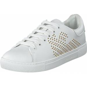 Giorgio Armani Emporio Armani Lace Up Sneaker R579 White+gold, Sko, Sneakers og Træningssko, Sneakers, Hvid, Dame, 41