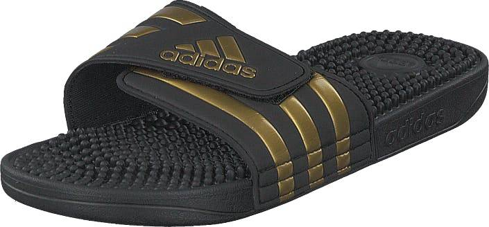 adidas Sport Performance Adissage Core Black/gold Met./core Blac, Sko, Sandaler og Hjemmesko, Sandaler, Sort, Guld, Unisex, 37