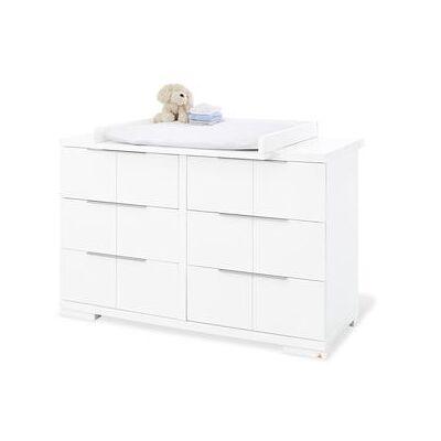 Pinolino  Puslekommode Polar ekstra bred - hvid - Babymøbler - Array