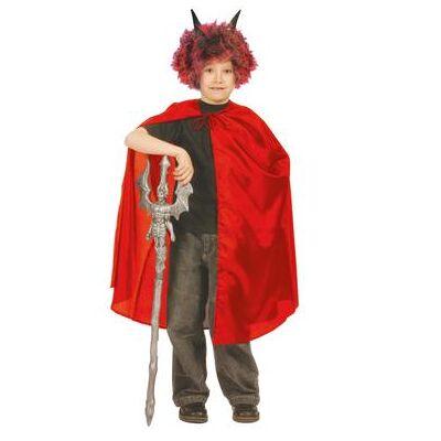 Funny Fashion  Halloween kostum nylonkappe i rød - Gr.128 - Dreng/Pige - Baby Spisetid - Array