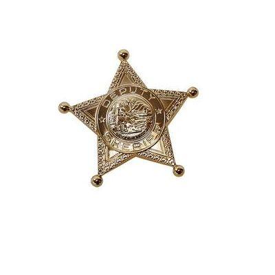 Rubies Kostume Accessories Sheriffstjerne guld - Dreng/Pige - Baby Spisetid - Array
