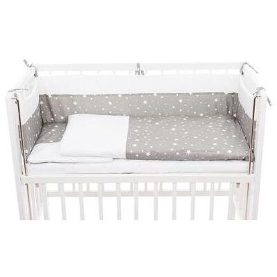 Fillikid sengetøjs sæt Cocon Stjerne grå - Baby Spisetid - Array