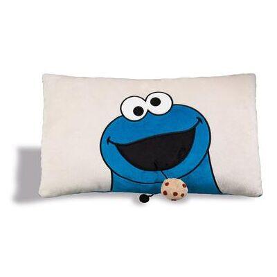 Nici Sesame Street rektangulær pude krummer monster 43 x 25 cm 41974 - blå - Baby Spisetid - Array