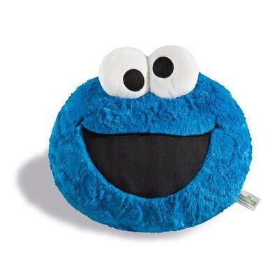 Nici Sesame Street figurativ pude krummer monster 28 x 24 cm 41976 - blå - Baby Spisetid - Array