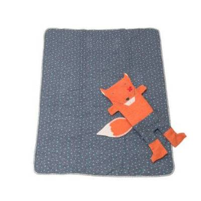 DAVID FUSSENEGGER Sæt Tæppe i dukke Ræv 70 x 90 cm - orange - Baby Spisetid - Array
