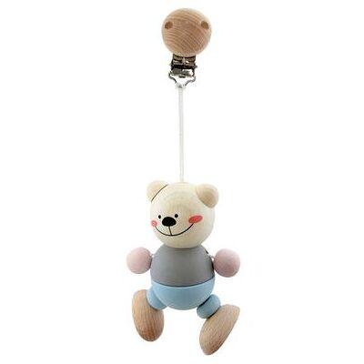 Hess legetøjs-vedhæng bjørn - blå - Baby Spisetid - Array