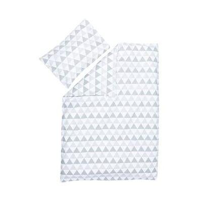 filikid sengetøj Trekanter grå - Baby Spisetid - Array