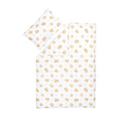 Fillikid sengetøj Teddybjørn hvid - Baby Spisetid - Array