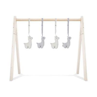 Jollein Babygym Legetøj Lama 4 stk - grå - Baby Spisetid - Array