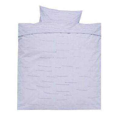 Alvi Sengetøj 80 x 80 cm, Stripes blue - blå - Baby Spisetid - Array