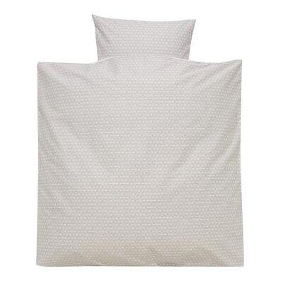 Alvi Sengetøj 80 x 80 cm, Mønstert taupe - grå - Baby Spisetid - Array