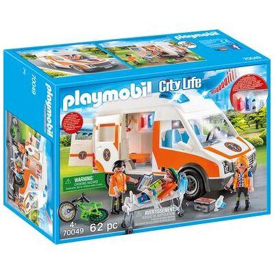 Playmobil ® City Life Ambulance med lys og lyd 70049 - Baby Spisetid - Playmobil