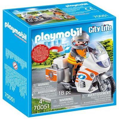 Playmobil ® City Life Politimotorcykel 70051 - Baby Spisetid - Playmobil