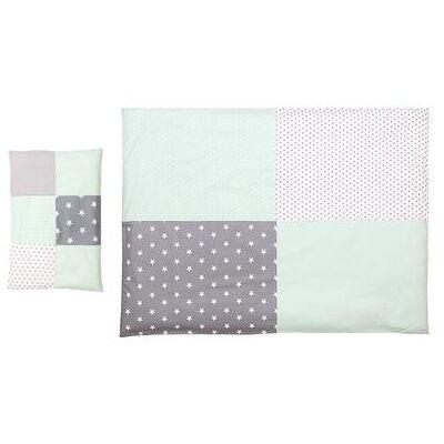 Ullenboom Børnesengetøjs-Sæt Mint Grå 135 x 100 cm + 40 x 60 cm - flerfarvet - Baby Spisetid - Array