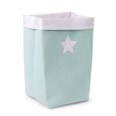 CHILDHOME opbevaringsboks mint, hvid 32 x 32 x 60 cm - grøn - Baby Spisetid - Array