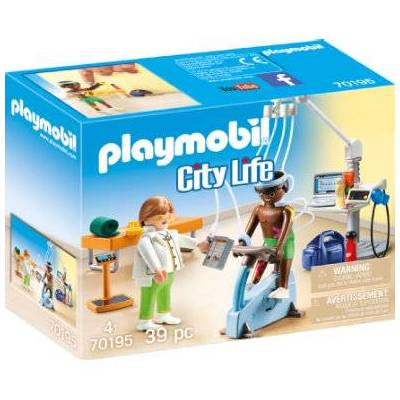 Playmobil Byliv Hos specialist: Fysioterapeut 70195 - flerfarvet - Baby Spisetid - Playmobil