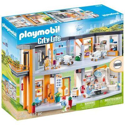 Playmobil City Life Stort hospital med anlæg 70190 - flerfarvet - Baby Spisetid - Playmobil