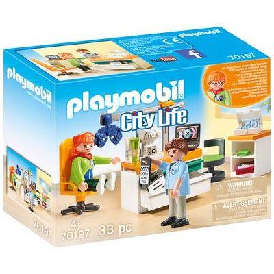 Playmobil City Life Hos specialist: Øjenlæge 70197 - flerfarvet - Baby Spisetid - Playmobil