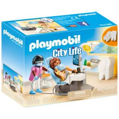 Playmobil City Life Hos specialist: Tandlæge 70198 - flerfarvet - Baby Spisetid - Playmobil