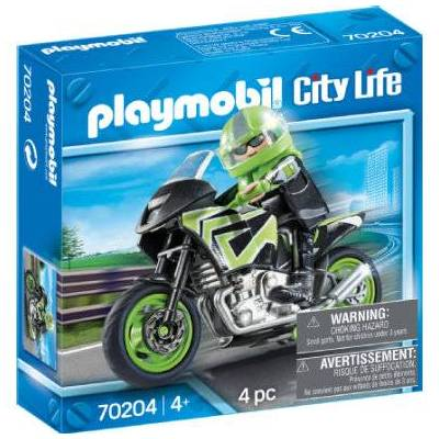 Playmobil City Life motorcykeltur 70204 - flerfarvet - Baby Spisetid - Playmobil