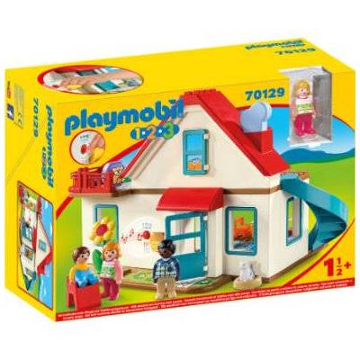 Playmobil 1 2 3 Enfamiliehus 70129 - flerfarvet - Baby Spisetid - Playmobil