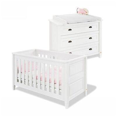 Pinolino Economy sæt Monja bred - hvid - Gr.70x140 cm - Baby Spisetid - Array