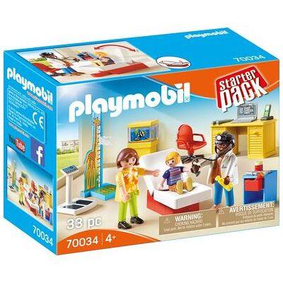 Playmobil City Life StarterPack Hos børnelæge 70034 - Baby Spisetid - Playmobil