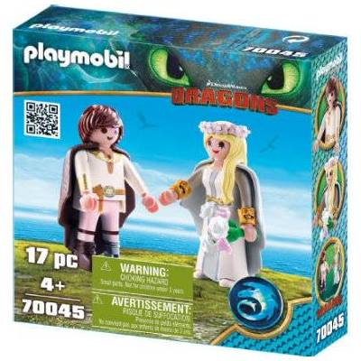 Playmobil DRAGONS Astrid og Hicks 70045 - Baby Spisetid - Playmobil