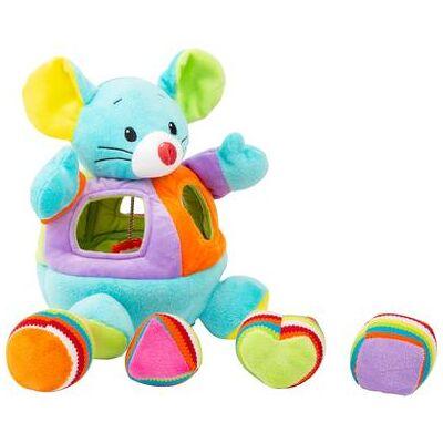 small foot Stof legetøj plug-in mus - flerfarvet - Baby Spisetid - Array