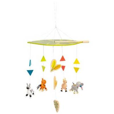 small foot  Mobile Jungle - flerfarvet - Baby Spisetid - Array
