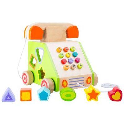 small foot Trækning og motorisk legetøj Telefon - flerfarvet - Baby Spisetid - Array