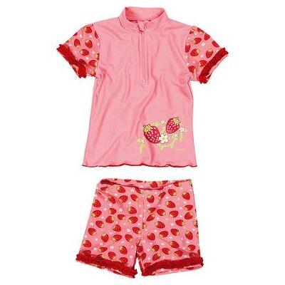 Playshoes UV-beskyttelse Badesæt jordbær, rosa - rosa/pink - Gr.122/128 - Pige - Børnetøj - Array