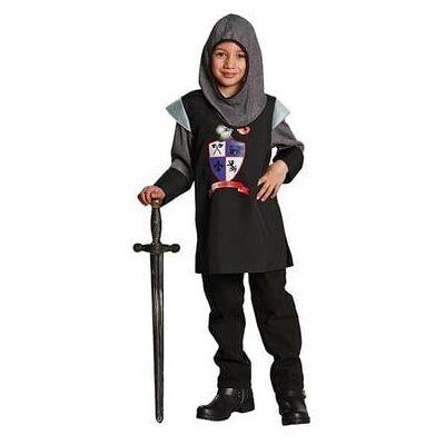 Rubies Kostume Sort Ridder - sort - Gr.116 - Dreng - Børnetøj - Array