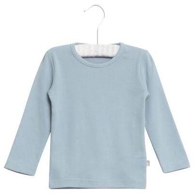 WHEAT  Basic Boys Shirt ashleyl blue - blå - Gr.fra 6 mdr. - Dreng - Børnetøj - Array