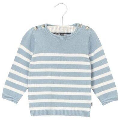 Wheat sweater Knit Jonas ashleyblue - blå - Gr.fra 6 år - Dreng - Børnetøj - Array