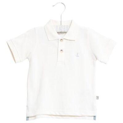 WHEAT  Poloshirt Anchor white - hvid - Gr.fra 5 år - Dreng - Børnetøj - Array