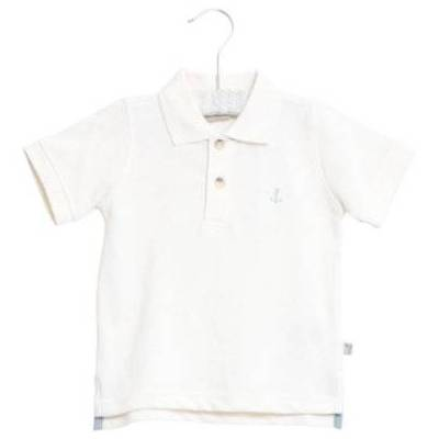 WHEAT  Poloshirt Anchor white - hvid - Gr.fra 3 år - Dreng - Børnetøj - Array