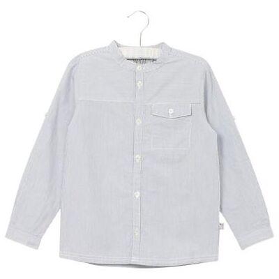 Wheat Shirt Axel deepocean - blå - Dreng - Børnetøj - Array