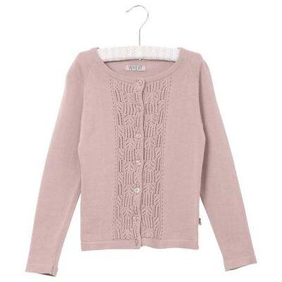 Wheat Strikket Cardigan Annelie darkpowder - rosa/pink - Gr.fra 9 mdr. - Pige - Børnetøj - Array