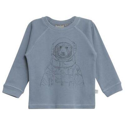 WHEAT  T-Shirt Spaceman blue - blå - Gr.fra 2 år - Dreng - Børnetøj - Array