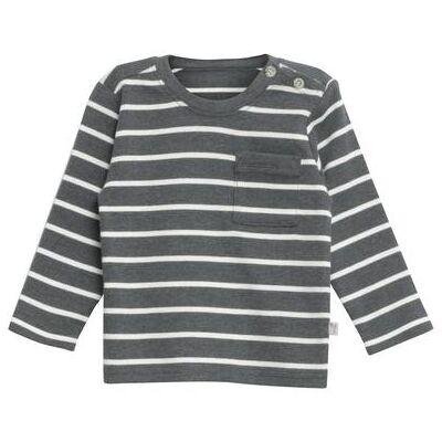 WHEAT  Shirt Jesper steelmelange - grå - Gr.fra 18 mdr. - Dreng - Børnetøj - Array