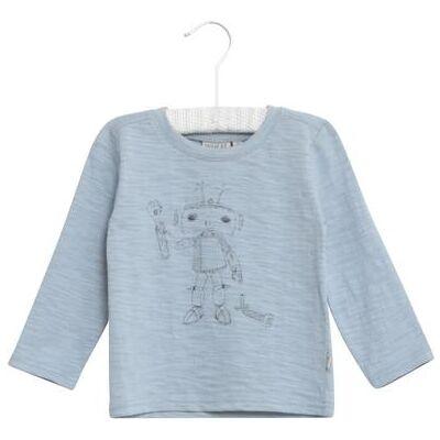 WHEAT  Shirt Robot ashleyblue - blå - Gr.fra 4 år - Dreng - Børnetøj - Array