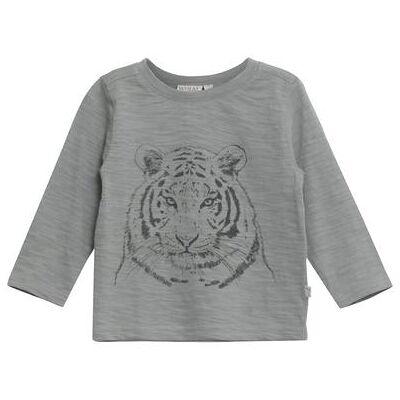 WHEAT  Shirt Tiger darkslate - grå - Gr.fra 1 år - Dreng - Børnetøj - Array
