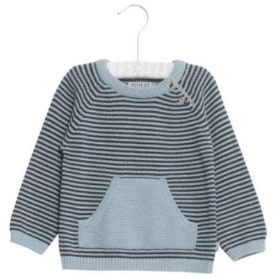 Wheat Knit Pullover Bashir darkblue - blå - Gr.fra 6 år - Dreng - Børnetøj - Array