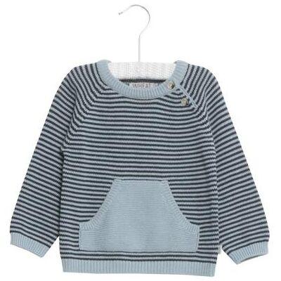Wheat Knit Pullover Bashir darkblue - blå - Gr.fra 4 år - Dreng - Børnetøj - Array
