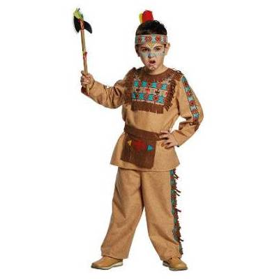 Rubies Kostume Indianer - brun - Gr.140 - Dreng - Børnetøj - Array