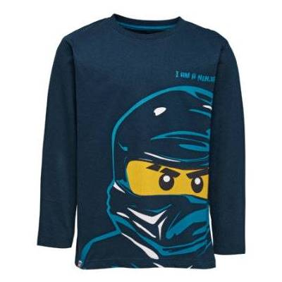 Lego wear NINJAGO Langærmet shirt dark navy - blå - Gr.104 - Dreng - Børnetøj - Lego